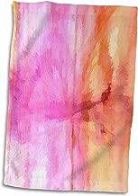 3D Rose Tye Dye Pink Towel 15 x 22