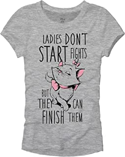 Disney Arisotcats Marie Ladies Don't Start Fights Juniors T-Shirt
