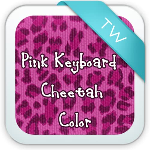 Pink Keyboard Cheetah Color
