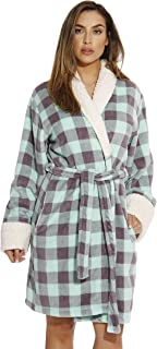 Just Love Sherpa Trim Plush Robe for Women