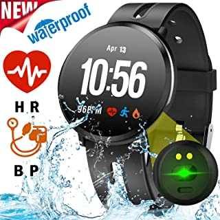Fitness Tracker with Blood Pressure Monitor Heart Rate Oxygen Sleep Monitor Calorie Waterproof IP68 Smartwatch Activity