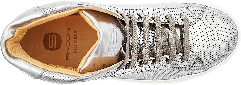 S Sneekr Milano High - Zapatillas para mujer Perfo Silver