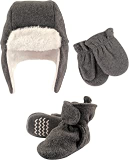 Hudson Baby Winter Hat, Mittens and Booties Set