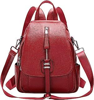 ALTOSY Weiches Echtes Leder Rucksack Tasche Damen Convertible Rucksäcke Umhängetasche