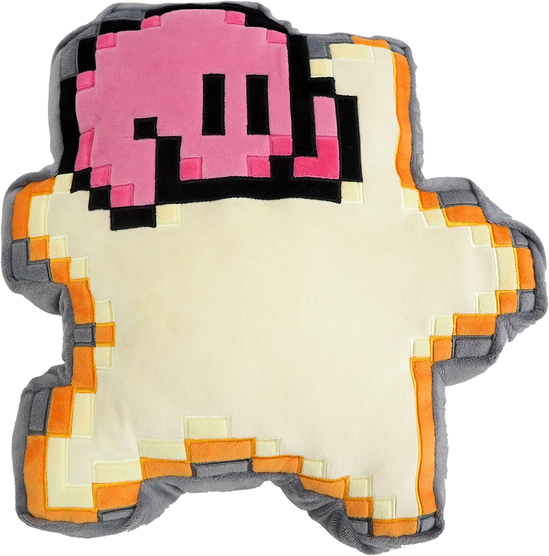 Little Buddy Kirby of The Stars 1637 Kirby 8-Bit Star Cushion Pillow Stuffed Plush, Multi-Colored, 12