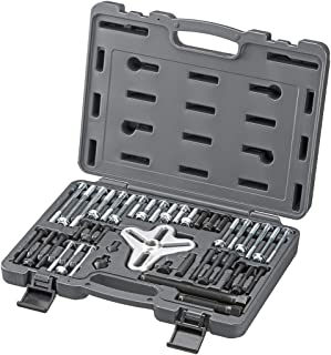 ARES 71000-43-Piece Harmonic Balancer Puller Set - Use with Harmonic Balancers, Steering Wheels, Crankshaft Pulleys and Ge...