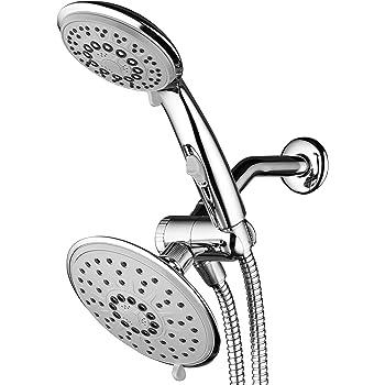 Chrome Hydroluxe Multi Setting Chrome Rainfall Shower Head /& Handheld Combo
