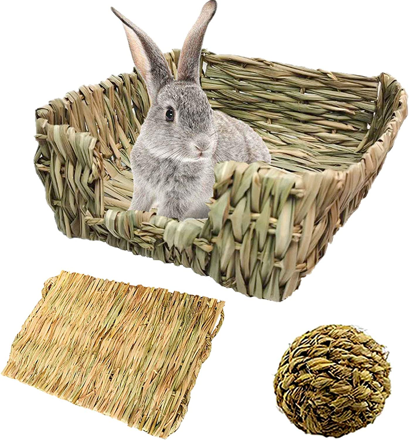 PINVNBY PortableBunny Overseas parallel import regular item Grass Bed Hand-Made Small Rabbit Dealing full price reduction with Nat