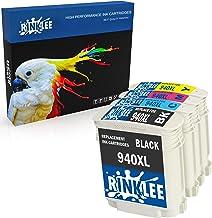 RINKLEE 4 Compatibles 940XL 940 XL Alta Capacidad Cartuchos de Tinta Reemplazo para HP OfficeJet Pro 8000 8500 8500A A809a A809n A909a A909g A910a A910g