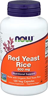 Now Foods, Red Rice Yeast Extract 600 mg Veggie Capsules, 120 Count