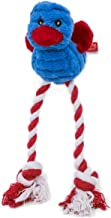 Petface Cord Long Legs Chew Puppy/Dog Toy, Green/red/blue