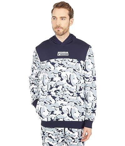 PUMA Core Camo All Over Print Hoodie (Puma White All Over Print) Men