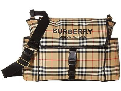 Burberry Kids Flap Diaper Bag (Archive Beige) Bags