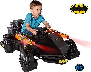 New! DC Comics Light and Sound 6-Volt Batman Batmobile Rechargable Ride on Toy for Boys
