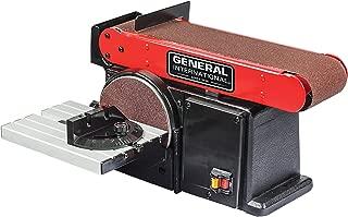 General International BD7004 4A 2-in-1 Belt & Disc Sander, Red, Black & Gray
