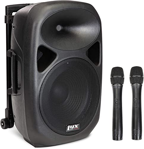 wholesale LyxPro wholesale 2021 12 Inch Active PA Rechargeable Battery Speaker System, Bluetooth, MP3, USB, SD Card Slot, Foldable Carry Handle, Easy Carry Wheels-SPA-12 BAT sale