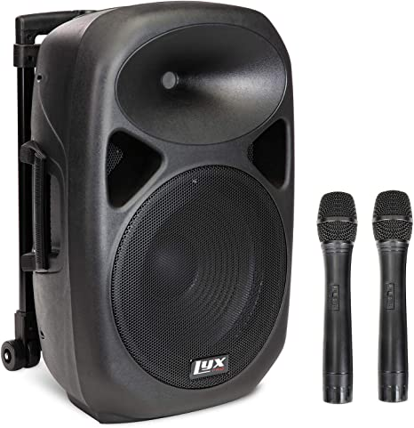 Amazon.com: LyxPro 12 Inch Active PA Rechargeable Battery Speaker System, Bluetooth, MP3, USB, SD Card Slot, Foldable Carry Handle, Easy Carry Wheels-SPA-12 BAT : Musical Instruments
