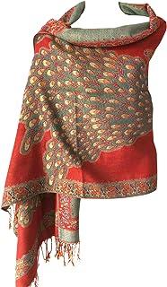 Women Soft Metallic Sparkly Reversible Pashmina Evening Shawl Wrap Long Scarf