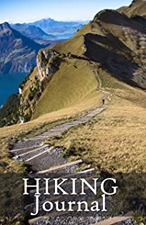 Hiking Journal: Hike Log Book - 50 Hikes - Compact Hiking Notebook (Outdoor Journal - Travelers Notebook -  for Boy Scouts or Girl Scouts and Hikers - Ridge Trail