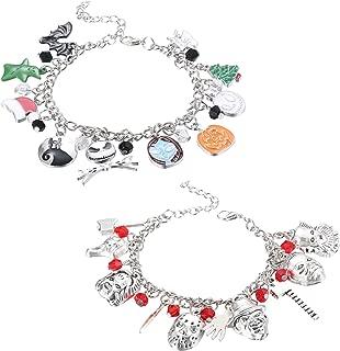 JOERICA 2 Pcs Charm Bracelet for Women Horror Bracelet Classic Scary Movie Jewelry