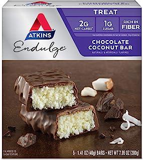 Atkins, Endulge, Chocolate Coconut Bar, 5 Bars, 1.4 oz (40 g) Each