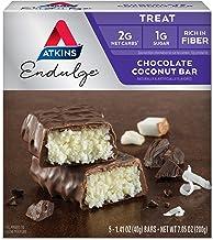 Atkins Endulge Treat Chocolate Coconut Bar. Rich Coconut & Decadent Chocolate. Keto-Friendly. (5 Bars)