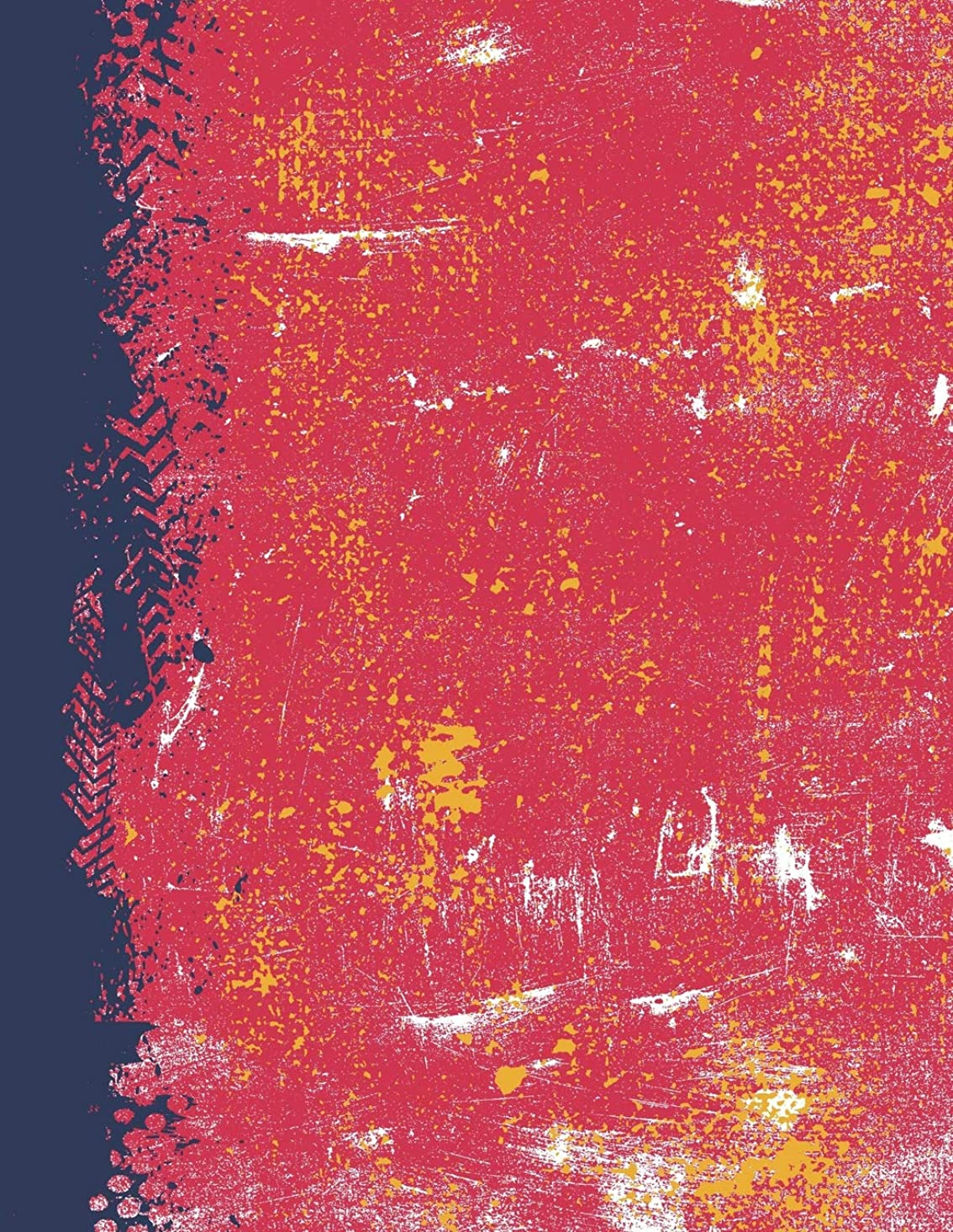 チェリー把握晴れScarlet Navy And Gold: (8.5 x 11 Lined) Blank Grunge Team Color Notebook College Ruled