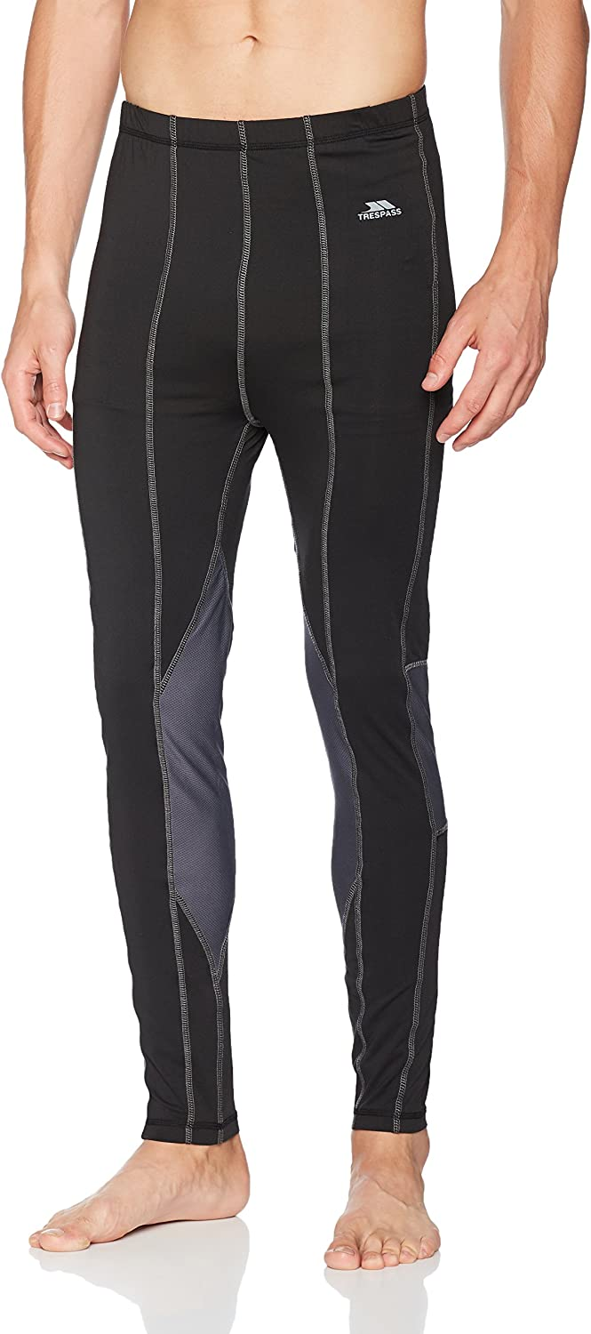 Trespass Tactic Mens Black Base Layer Pants