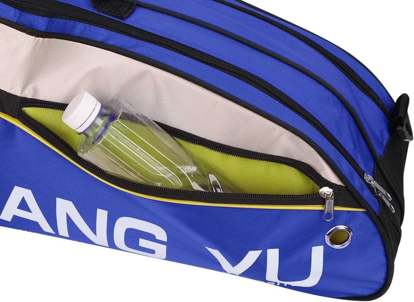 Universelle Badminton Schl/ägertasche Schl/ägerh/ülle Schutzh/ülle Tragbar Wasserdicht Badmintontasche Rucksack Schutztasche Sports Racket Bag mit praktischem Tragriemen f/ür bis zu 6 Schl/äger