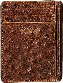 M&F Western - Vinatage Ostrich Card Case