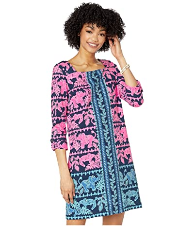 Lilly Pulitzer Bailee Dress (High Tide Navy Perfect Pair Engineered Knit) Women