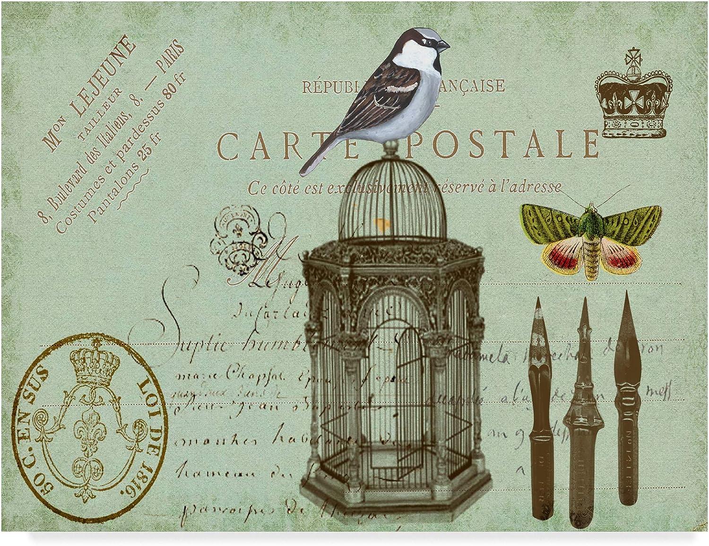 Trademark Fine Art Postcards of Paris II by Sandy Lloyd, 14x19