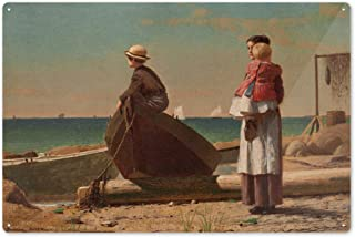 Dad's Coming - Masterpiece Classic - Artist: Winslow Homer c. 1873 57866 (6x9 Aluminum Wall Sign, Wall Decor Ready to Hang)