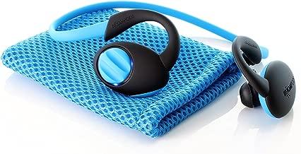 Boompods Sportpods Enduro in-Ear Bluetooth Sport Headphones (Blue) Wireless Workout Earbuds - Sweatproof - Long Lasting 12 Hour Battery