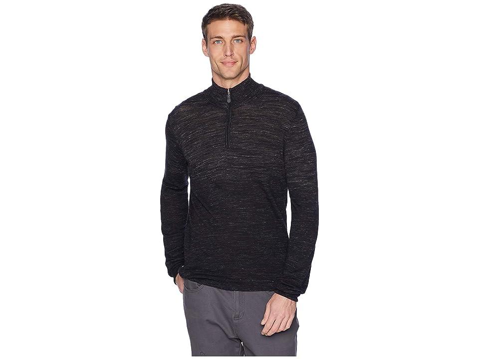 BUGATCHI Long Sleeve Sweater (Black) Men