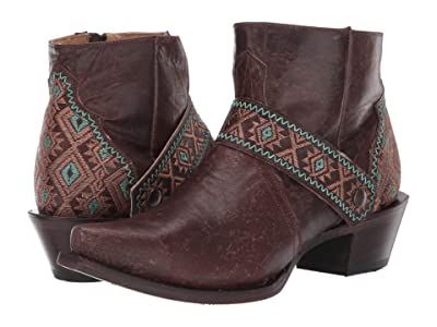 Roper Pasadena Snip (Oiled Brown Leather) Cowboy Boots