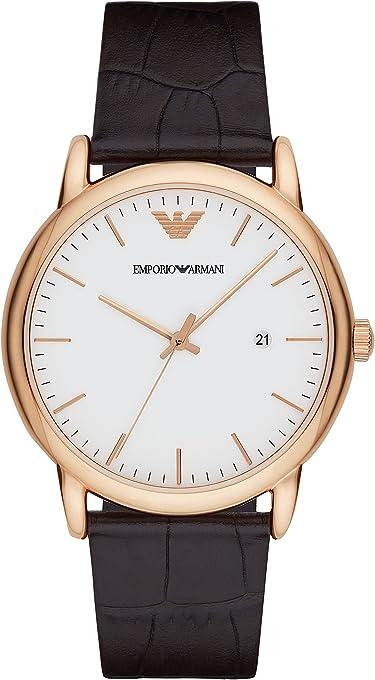 Emporio Armani Men's AR2502 Dress Brown Leather Quartz Watch
