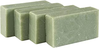 Eucalyptus Spearmint Soap Bar (SET of 4) - Handmade Soap Bar with Refreshing Mint, Eucalyptus and Essential Oils- Organic ...