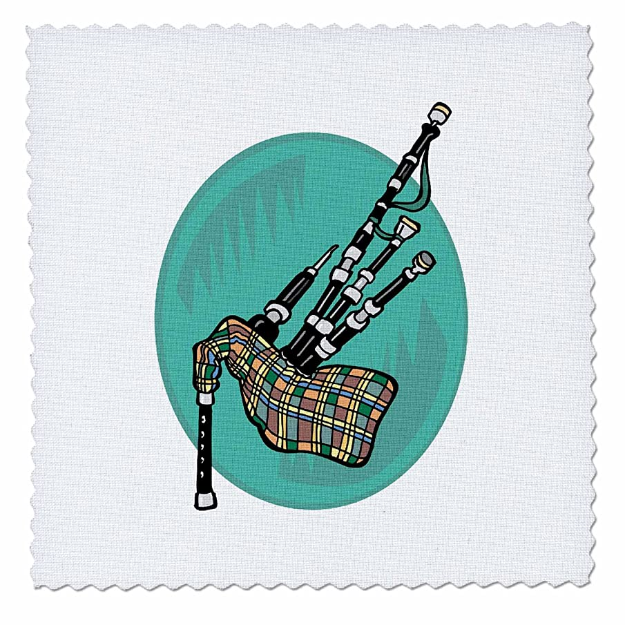 3dRose qs_150061_3 Bagpipes Music Musical Instrument Design Quilt Square, 8 by 8-Inch