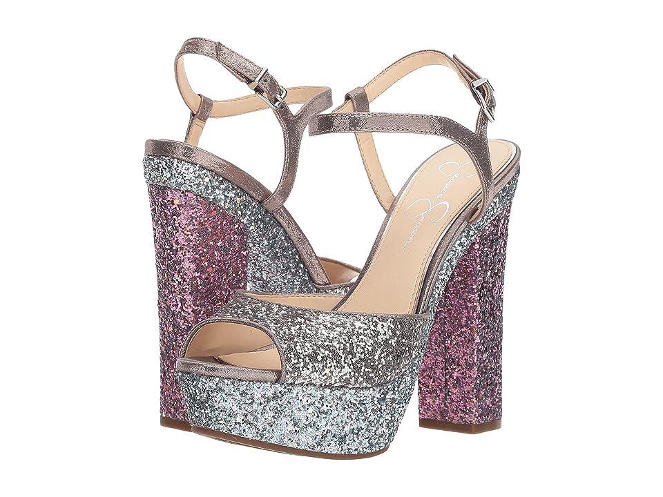 Jessica Simpson Lorinna (Alloy Combo Chunky Glitter) High Heels