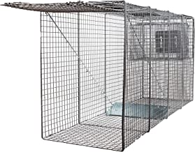 X-Large One Door Catch Release Heavy Duty Cage Live Animal Trap for Large Dogs, Foxes, Coyotes and Other Similar Sized Animals, 58
