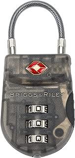 Briggs & Riley Travel Basics Lightweight Tsa Cable Lock, Smoke, One Size