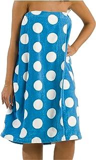 byLora spa Wraps for Women with Fastening Strap Terry Women Bath Towel - Aqua - XXL