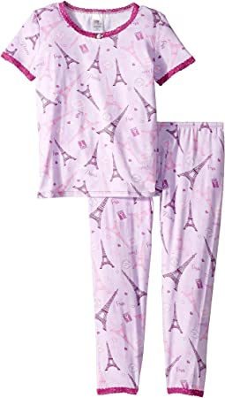 Short Sleeve Top and Pants Set (Big Kids)