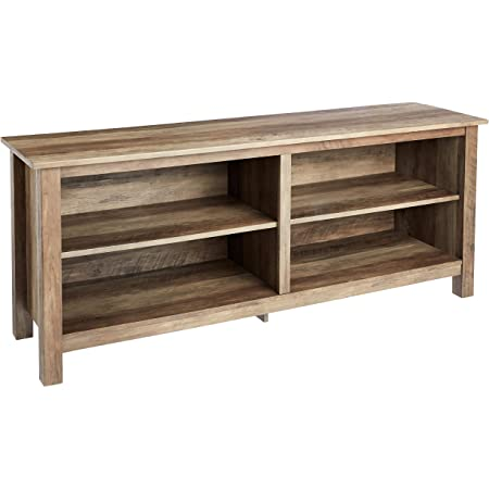 ROCKPOINT 58inch,Rustic Oak TV Stand, 58x16x23.6inch