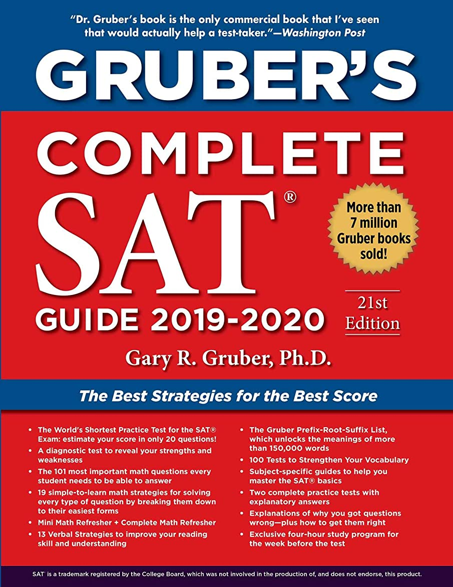 勇気させる温室Gruber's Complete SAT Guide 2019-2020 (English Edition)