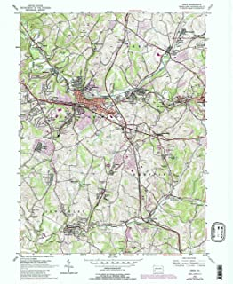 YellowMaps Irwin PA topo map, 1:24000 Scale, 7.5 X 7.5 Minute, Historical, 1953, Updated 1979, 26.9 x 22.1 in