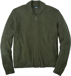 KingSize Men's Big & Tall Shaker Knit Zip-Front Cardigan