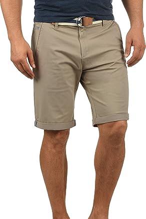 !Solid Monty Herren Chino Shorts Bermuda Kurze Hose Mit Gürtel Aus Stretch-Material Regular-Fit