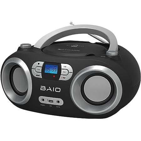 Outmark Baio Tragbarer Cd Radio Bluetooth Player Usb Elektronik